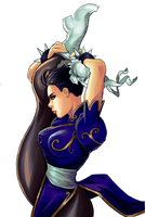 Chun Li Stretch by GreenStranger