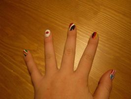 Flag Nails by thesmilyone