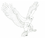 Gryphon drawing (AT) by QuicksilverCat