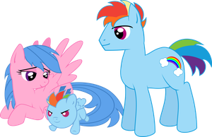 Rainbow Dash family by LOCKHE4RT