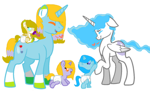 mlp Ocean Heart family by Flora-flower1