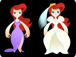 Ariel the Little PaperDoll - Three by spicysteweddemon