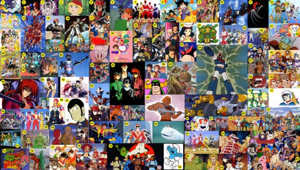 My collection of 80's-90's anime's, cartoons, etc by portpolyonamo1979