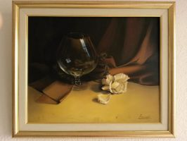 still life- glass and a rose by Sarajevo2707