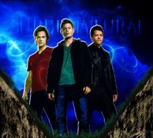 Supernatural - Standing Over Grave (Pastels) by chasesocal