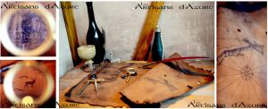 Once upon a larp in the Tavern...A leather map by ArtisansdAzure