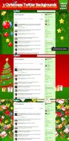 Christmas Twitter Backgrounds by Kamarashev