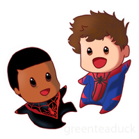Spider-men by greenteaduck