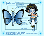MorphoBlue Saint of the Goddess Gaia by CastaliaDoragon