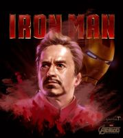 Iron Man - Digital painting by Tintrung