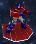 Optimus Prime 3D by Gundamjack