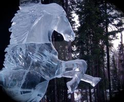 Blue Ice Horse by veritasBtold