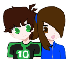 Danny and Ben! [Omnitrix Friends] by RubytheCat12