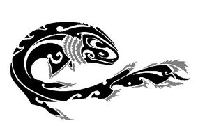 Tribal - Frilled Shark by Helletic-Hybrid