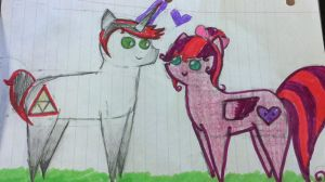 Me and Brandon as ponies by InvaderRiley17