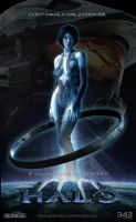 Cortana Fan Art Layout Design by rs2studios