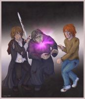 Fighting Greyback by Loony-Lucy
