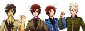 Hetalia. Spain/Romano Germany/Italy by Abakura