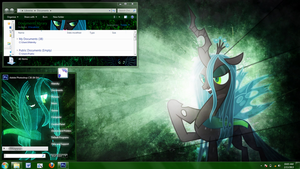 Queen Chrysalis Windows 7 theme by Matniky