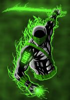 Snake Eyes Green Lantern Color by AdamTupper