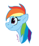 Rainbow Dash Headshot - My Style by SnowPeak