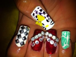 Variety nail art by pierrettepaola
