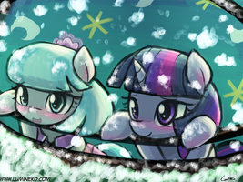 Watch the snow fall together~ by luminaura