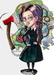 Wednesday Addams doesn't give a crap about you by telephonoscope