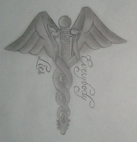 Caduceus tattoo design by L-Justine