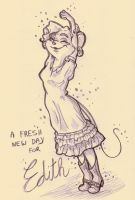 TGMD - A Fresh New Day for Edith sketch by Yaraffinity
