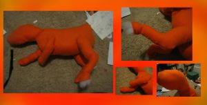 Vulpix plush W.I.P by vulpix15