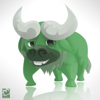 Color Animals - Green Buffalo by romith