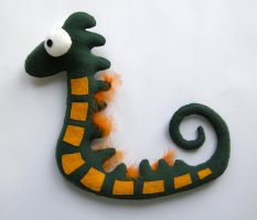 Sea Horse Plushie by vannesdesigns