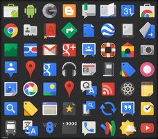 Google JFK Icons - ICO and PNG by carlosjj