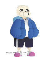 Vector study: Sans (without background) by Drahiny