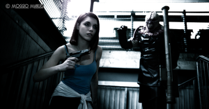 Jill Valentine and Nemesis by TotenPF