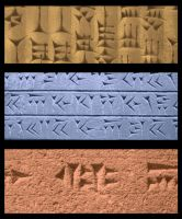 Cuneiform script brushes by HeavyMouse
