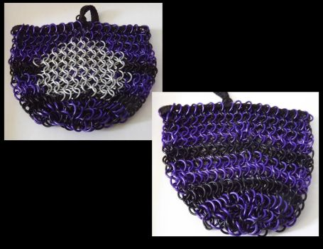 Commission~ Chainmail Dicebag by last-breath-of-life