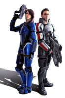 Mass Effect: Alliance marines by LittleBlondeGoth
