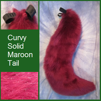 Curvy Solid Maroon Tail by Lascivus-Lutra