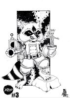 #Inktober day 3: Rocket raccoon  et Groot by tenshiflyers