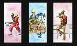 TF2 Triptych by chibi-maggs