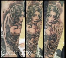angel tattoo by mojoncio