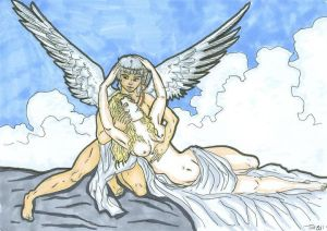 Eros and psyche :greek mythology