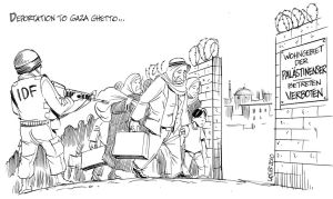 Deportation to Gaza Ghetto by Latuff2