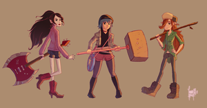 The Cool-Dressed Gurls by Ivanobich