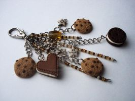 Cookie mix keychain by sugaroverdose-crafts