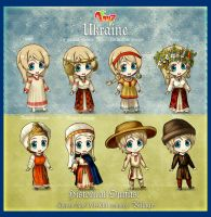 Hetalia 100 Guises: Historical Outfits part 1 by AtreJane