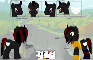 Sinister Sneer ~Official Character Ref~ by Winter-Wondermare