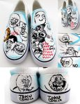 Rage Comic Shoes by artsyfartsyness